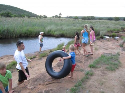 Fun down at the river