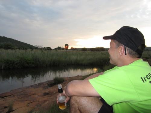 KK watching the sun setting