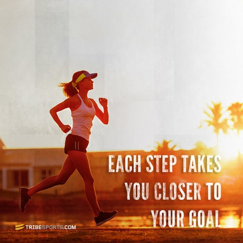 Each step takes you closer to the goal