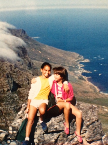 Our school trip to Cape Town when we were 10 years old. (We didn't do selfies in those days, I was taking the picture).