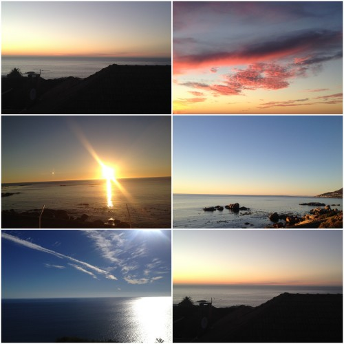 Sunsets collage