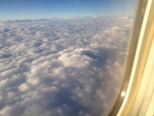 Taking a flight above the clouds