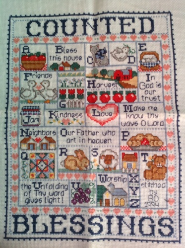 Count your blessings cross stitch