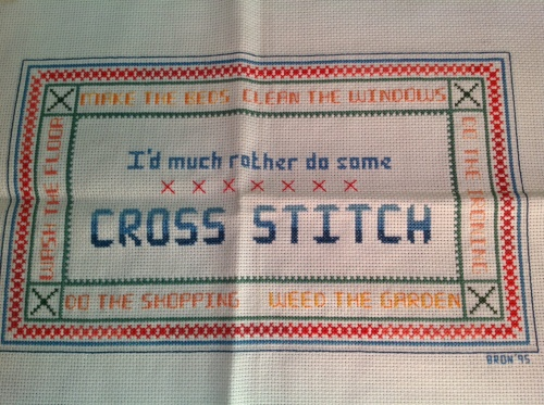 I'd much rather do some cross stitch