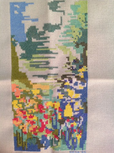 Lillies in the water cross stitch