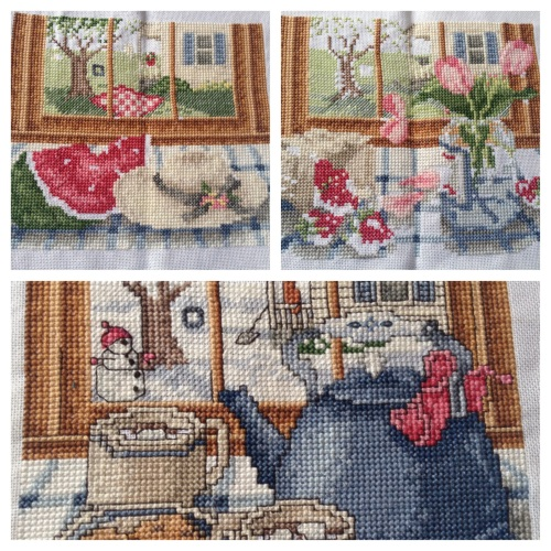 three seasons cross stitch