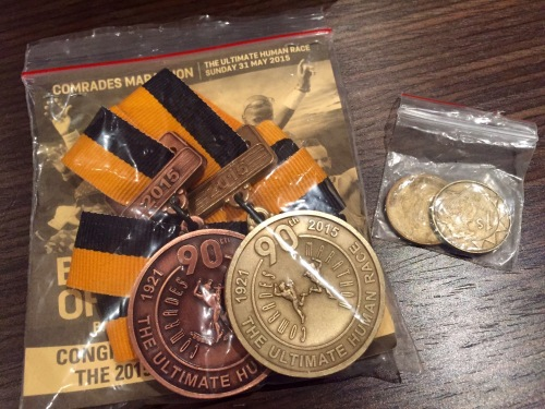 Comrades medals and coins