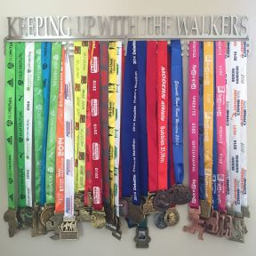 My medal hanger from some of my favourite races