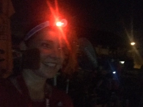 Super bright headlamps! I look like I'm about to go looking for gold!