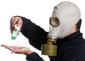 gas mask to avoid sick