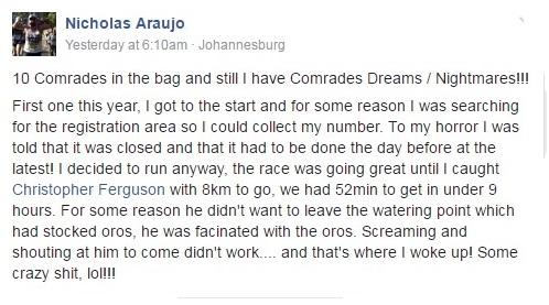 Comrades nightmares