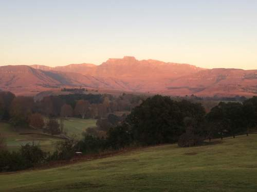 Sunrise over the Drakensberg mountains