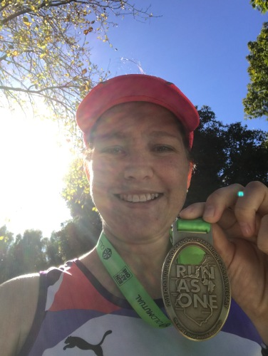 two oceans half marathon medal and photo