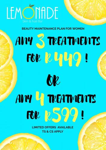 beautician packages for face, nails, body